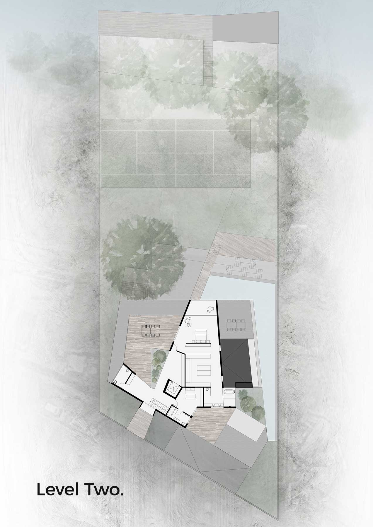 H2 (House Two) Floor Plan - architecture by Studio Y.