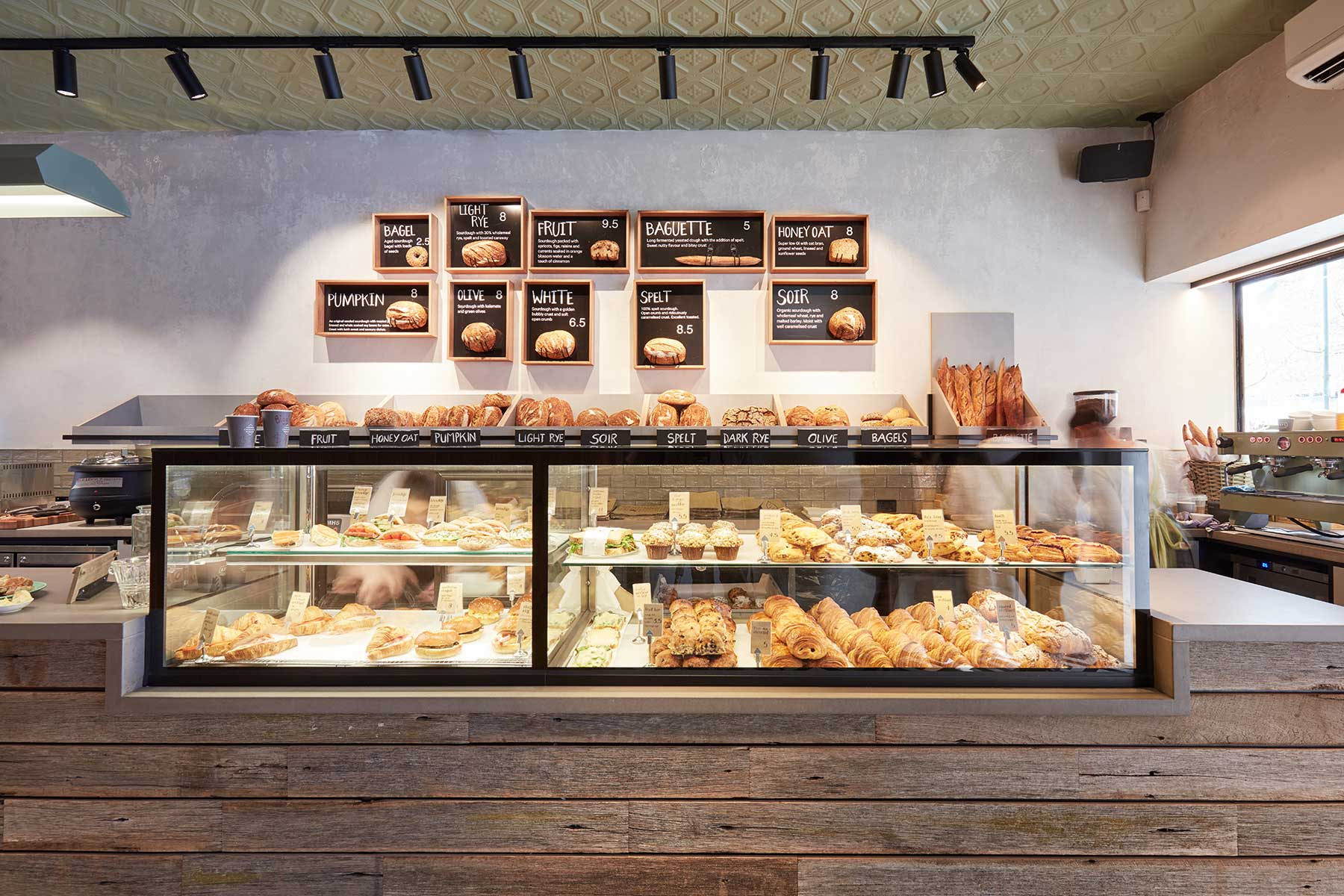 Woodfrog Bakery, Camberwell - interior design by Studio Y.
