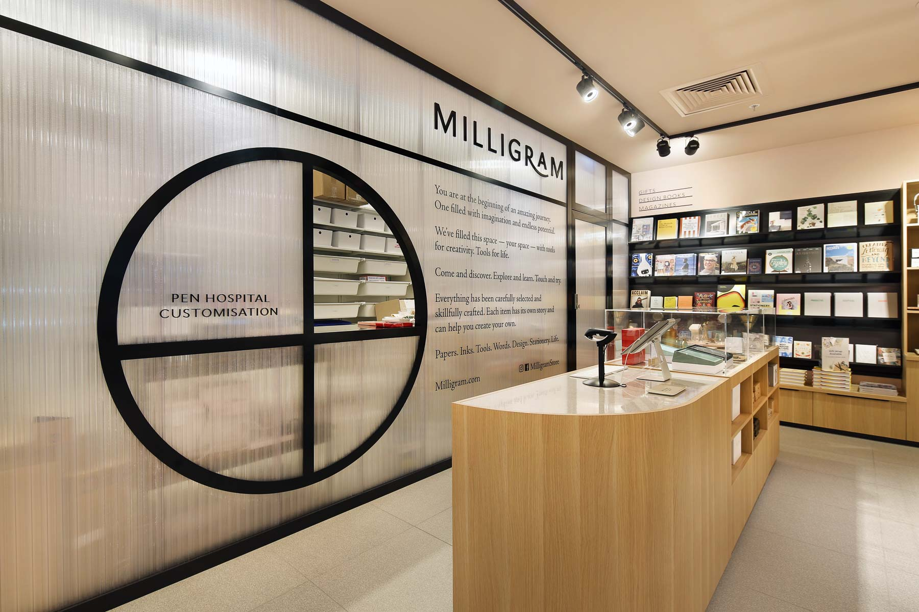 Milligram - interior design by Studio Y.