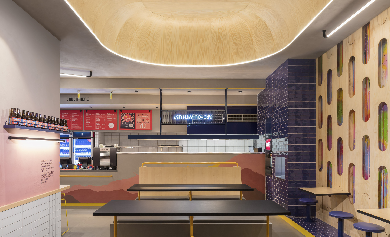 Huxtaburger Footscray - interior design by Studio Y.